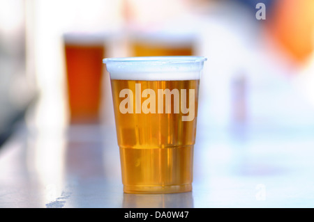 BARCELONA - MAY 24: A beer at the bar ready for drink at Heineken Primavera Sound 2013 Festival on May 24, 2013 - Stock Photo