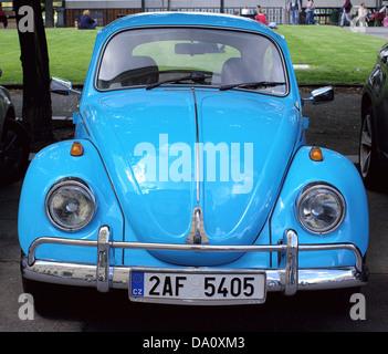 Old blue Volkswagen beetle - Stock Photo
