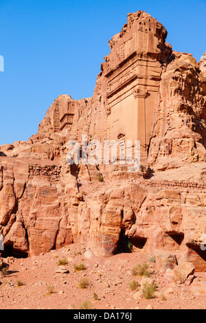 Ancient tombs in Petra, Jordan - Stock Photo