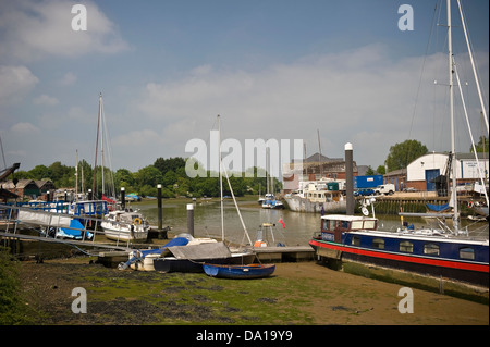 Boats Moored On Mud Flats At Clevedon Pill Severn Estuary Protected Stock Photo Royalty Free