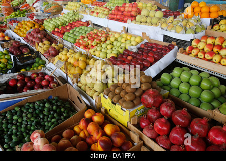 Fruit sold in Taza market, Baku - Stock Photo
