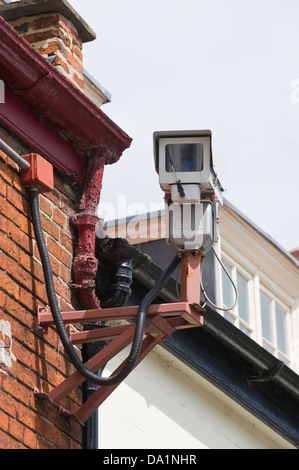 CCTV camera on front of building in Malton Ryedale North Yorkshire England UK - Stock Photo