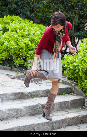 ANKLE PAIN WOMAN - Stock Photo