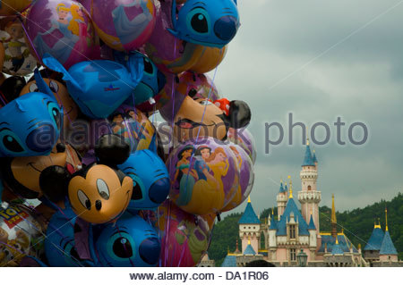 Mickey Mouse character on Disney World parade Stock Photo