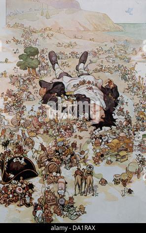 Jonathan Swift (1667-1745). Anglo-Irish satirist, essayist, political pamphleteer. Gulliver's Travels, 1726. - Stock Photo