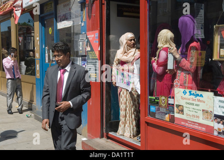 Muslim wedding, Brick Lane Tower Hamlets London  Bengali wedding tradition UK. No Money No Honey, sign modern dowry - Stock Photo