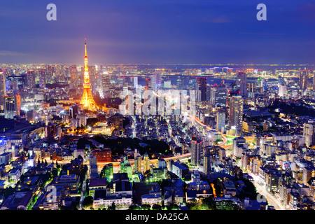 Skyline of Tokyo, Japan. - Stock Photo