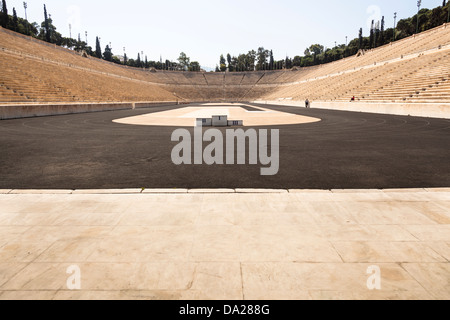Panathenaic Stadium, original modern day Olympic Stadium, Athens, Greece - Stock Photo