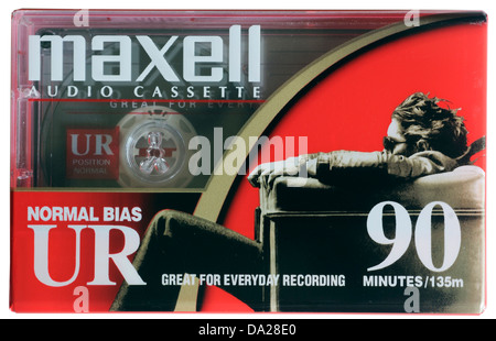 Maxell D90 cassette tape - Stock Photo