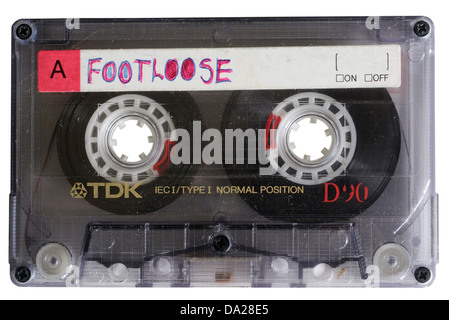 An old TDK D90 cassette tape - Stock Photo