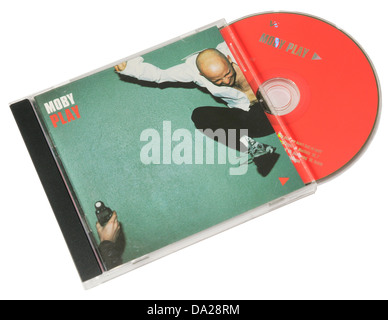 Moby Play album on CD - Stock Photo