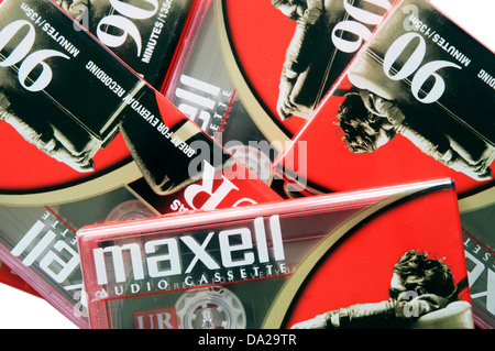 Maxell D90 cassette tapes - Stock Photo