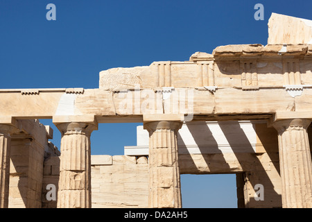 Columns of the Propylaea gateway to the Acropolis Stock ...