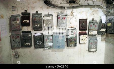 Mailboxes in Hong Kong - Stock Photo