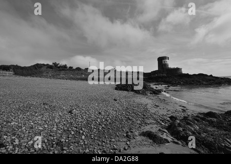 Archirondel cove at Jersey in the Channel Islands. - Stock Photo