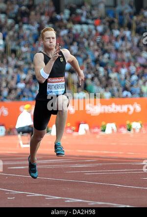 Birmingham, UK. 30th June 2013. Greg Rutherford (GBR). Mens long jump. Sainsburys Grand Prix. Diamond League. Alexander - Stock Photo