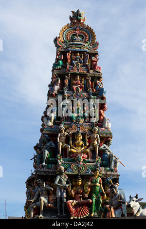 Sri Mariamman Temple , Chinatown , Singapore - Stock Photo