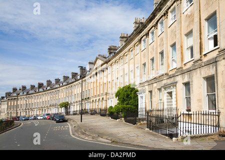 Georgian architecture Camden Crescent, Bath, Somerset, England - Stock Photo