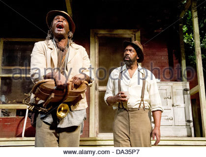 Fences by August Wilson . A Theatre Royal Bath production directed by Paulette Randall. With Ako Mitchell as Gabriel, - Stock Photo