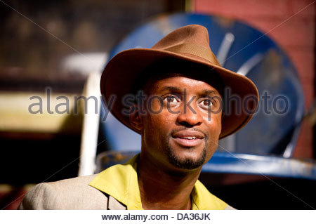 Fences by August Wilson . A Theatre Royal Bath production directed by Paulette Randall. With Peter Bankole as Lyons. - Stock Photo