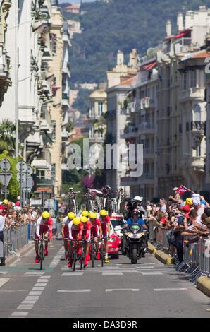 Nice, France. 2nd July, 2013.  Credit:  jonatha borzicchi editorial/Alamy Live News - Stock Photo