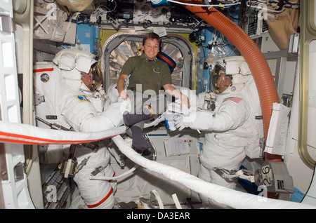 Space NASA First Female ISS Commander astronaut Peggy A. Whitson on Oct. 10, 2007 commanding the International Space - Stock Photo