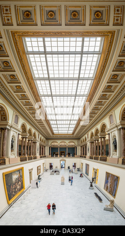 BRUSSELS, Belgium - High resolution panorama of the main hall of the Royal Museums of Fine Arts in Belgium (in French, - Stock Photo