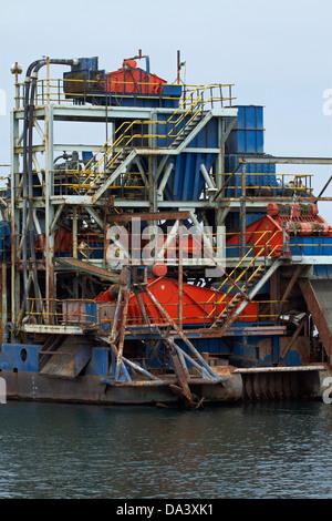Diamond mining ship, Walvis Bay, Namibia, Africa - Stock Photo