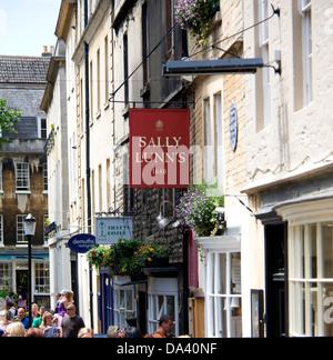 Sally Lunn's tearooms Bath Somerset England - Stock Photo