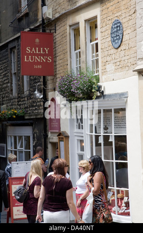 Sally Lunn's tearooms Bath Somerset England - Stock Photo