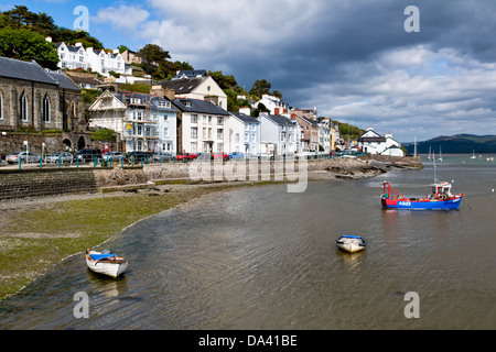 Picturesque sea front at Aberdovey (or Aberdyfi) Gwynedd, Wales, UK taken on fine day - Stock Photo