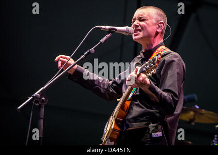 Bollate Milan Italy. 02th July 2013. The Irish singer SINEAD O'CONNOR performs live at Villa Arconati during the - Stock Photo