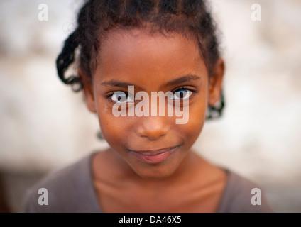 Girl Portrait, Massawa, Eritrea - Stock Photo