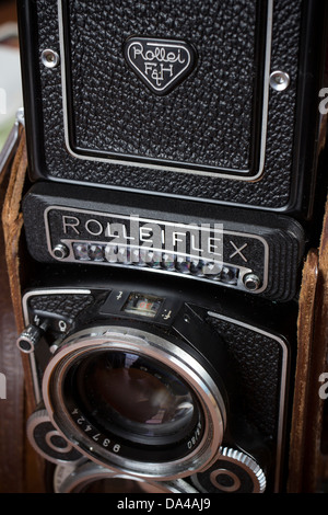 rolleiflex,twin lens reflex,retro,rolleiflex, camera, old, twin, life, 120, object, lens, still, xenotar, format, - Stock Photo