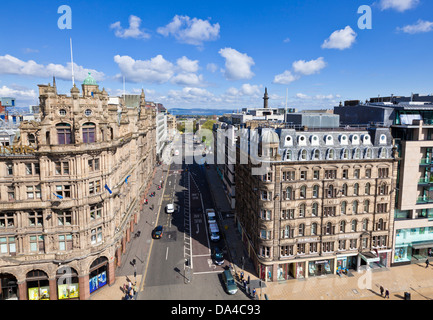 Jenners department store and St davids street south from Princes St edinburgh midlothian Scotland UK GB EU Europe - Stock Photo