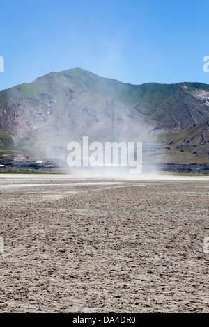 Sand storm, Salt Lake City, Utah, USA - Stock Photo