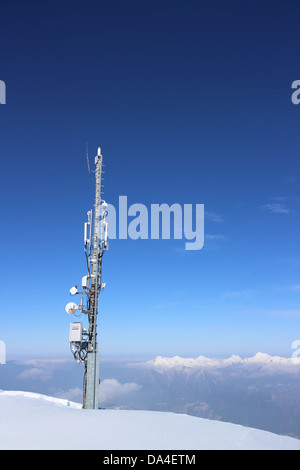 Ariel Mast on a mountaintop - Stock Photo