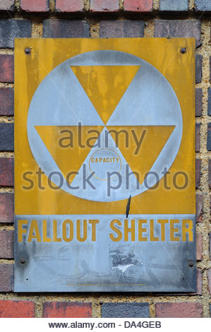 Fallout Shelter sign - Stock Photo