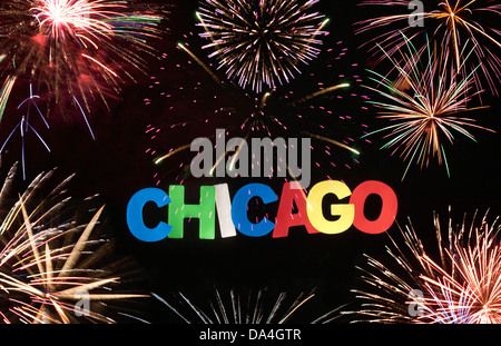 CHICAGO ILLINOIS USA SIGN - Stock Photo