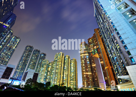 Luxury high rise apartments in Kowloon, Hong Kong SAR, China. - Stock Photo