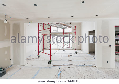 Interior of house under construction - Stock Photo