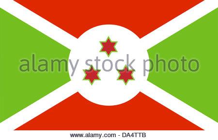Burundi flag - Stock Photo