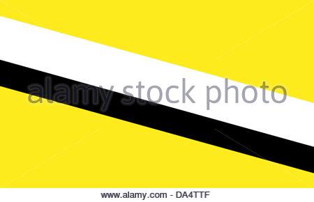 Brunei flag - Stock Photo