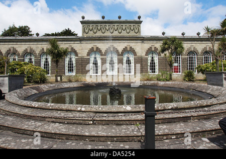 The 18th Century Orangery at Margam Park country park, Port Talbot, Wales, UK. - Stock Photo