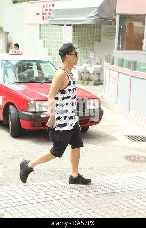 Jordan Chan went to buy breakfast for his wife Cherrie Ying in Hong Kong, China on Wednesday July 03, 2013. Their - Stock Photo