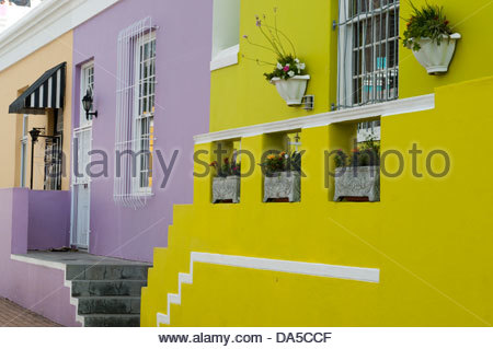 Bo-Kaap district,Cape Town,South Africa. - Stock Photo