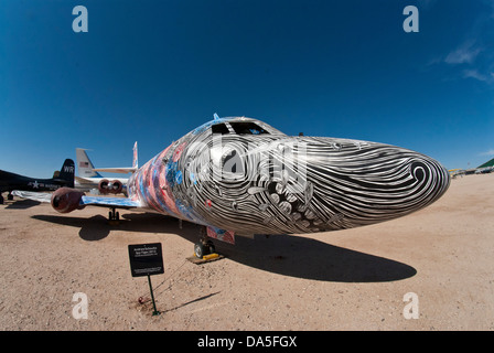 bone yard, largest, aircraft, graveyard, Davis, monthan, air force base, Tucson, Arizona, USA, United States, America, - Stock Photo