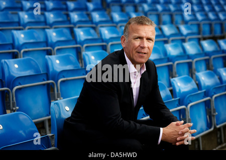 Alec Stewart pictured at Headingley Cricket Ground, Leeds - Stock Photo