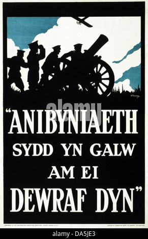 First World War, WWI, World War I, world war, war, Europe, propaganda, poster, Great Britain, British, propaganda - Stock Photo