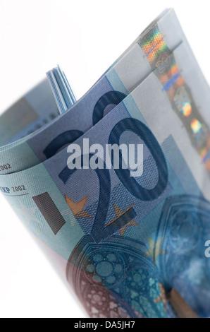 20 euro banknotes - Stock Photo